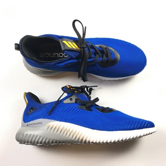 3ba16b81cefbd Adidas Alphabounce 1M 10.5 381 BB9037 Blue White